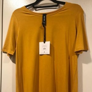 Tops - Ages And Dora Deep Gold Fitted Tee